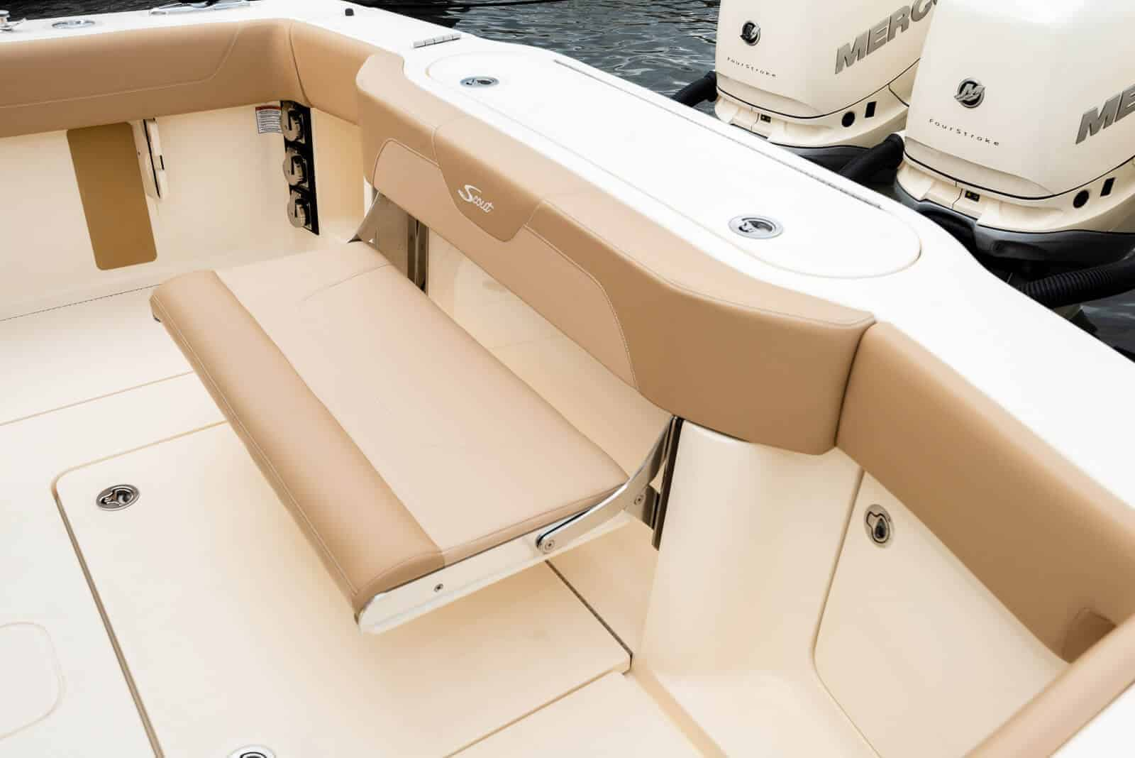 355LXF aft bench seat down
