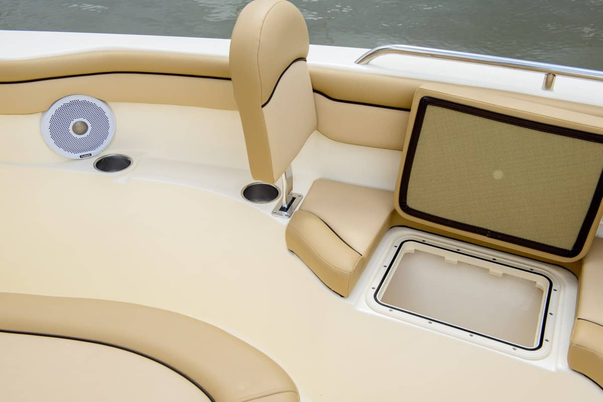 215XSF forward seating backrest and storage