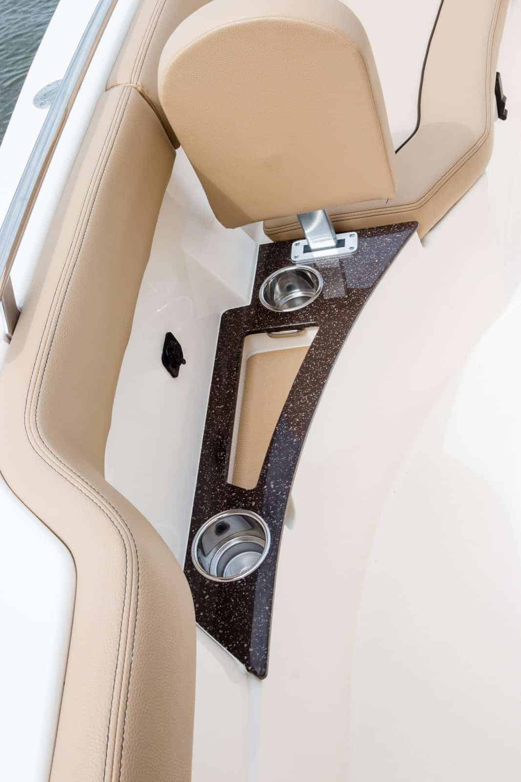 235XSF cup holders in bow