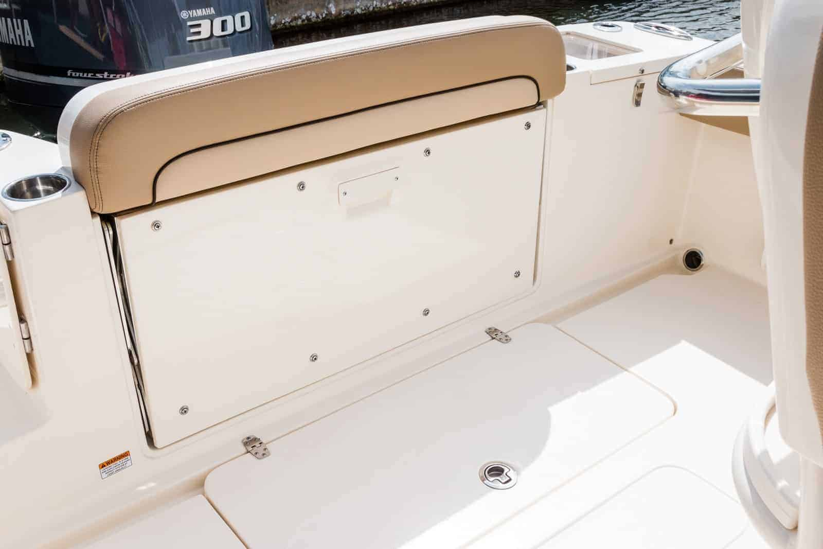 235XSF transom seat folded up
