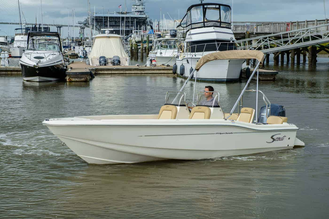 175SD scout white hull
