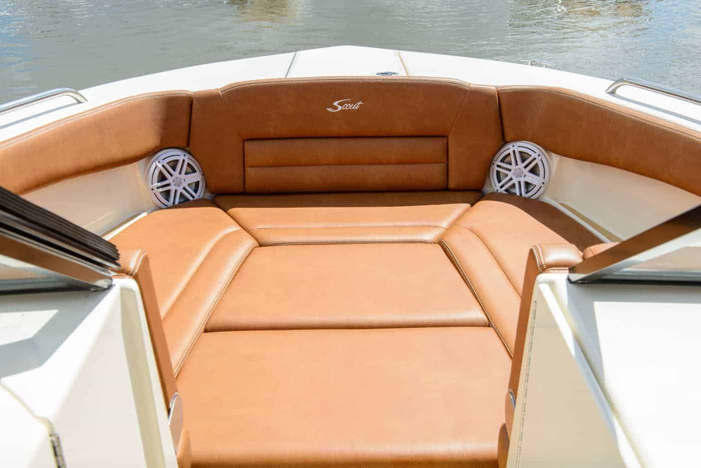 255D full bow seating with filler cushion