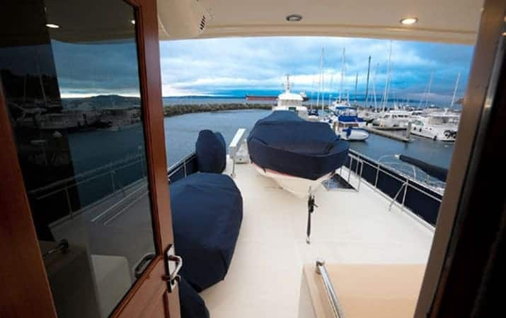 Scout covered on a yacht