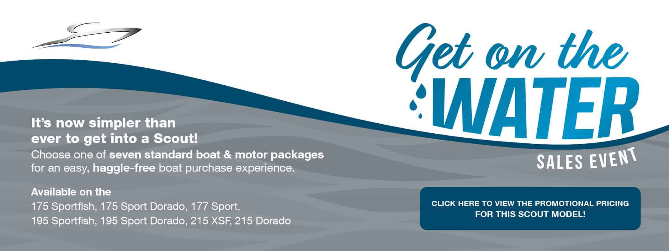 Get on the Water Sales Event